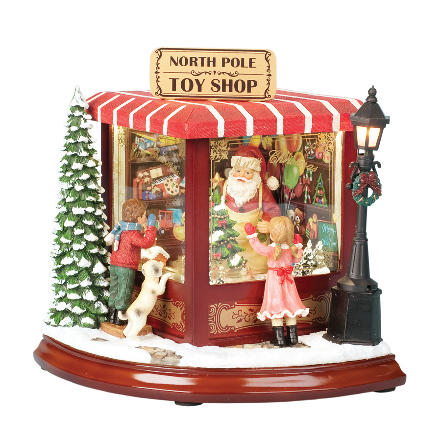 Animated Christmas Toys : Shop amusements christmas resin lighted musical north pole