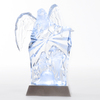 Roman Christmas Plastic Lighted Angel with Holy Family