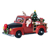 Amusements Christmas Resin Lighted Musical Pick Up Truck