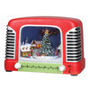 Amusements Christmas Resin Lighted Musical Retro Radio Scene