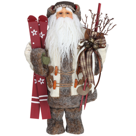 Roman Christmas Resin Santa with Skis Figure