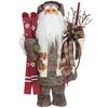 Roman Christmas Resin Santa with Skis Figure