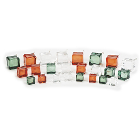 Roman 24-Pack Red, Green and Clear Ornament Set