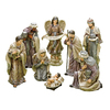 Roman 8-Pack Porcelain Nativity Christmas Collectible