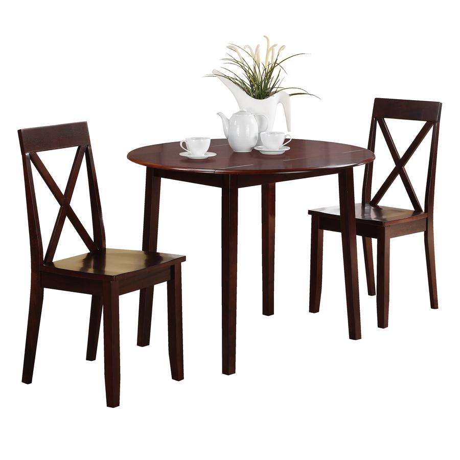 shop osp designs espresso 3 piece dining set at. Black Bedroom Furniture Sets. Home Design Ideas