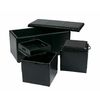 lowes deals on OSP Designs Espresso Storage Ottoman Set MET71ESR