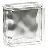 Pittsburgh Corning Endblock Decora Premiere Glass Block (Common: 8-in H x 8-in W x 4-in D; Actual: 7.75-in H x 7.75-in W x 3.87-in D)