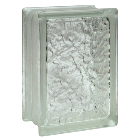Pittsburgh Corning Icescapes Premiere Glass Block (Common: 8-in H x 6-in W x 4-in D; Actual: 7.75-in H x 5.75-in W x 3.87-in D)
