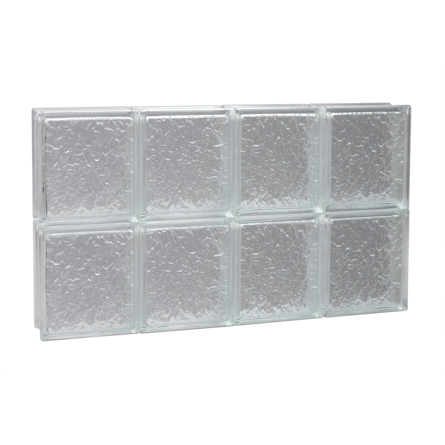Shop pittsburgh corning 32 in x 16 in guardwise icescapes for Glass blocks for crafts lowes