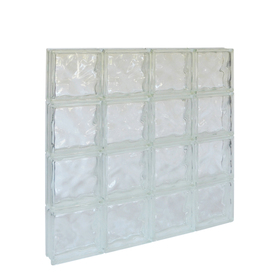 Shop pittsburgh corning guardwise decora solid frameless for Glass blocks for crafts lowes