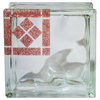 Pittsburgh Corning Expressions Brown Border Corner Glass Block (Common: 8-in H x 8-in W x 4-in D; Actual: 7.75-in H x 7.75-in W x 3.87-in D)