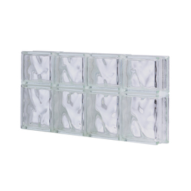 Shop pittsburgh corning 32 in x 14 in guardwise decora for Glass blocks for crafts lowes