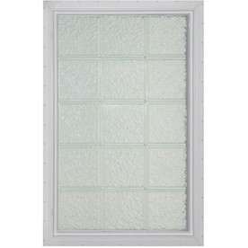 "Pittsburgh Corning 17-5/8"" x 48-3/4"" LightWise Series Vinyl Glass Block Window"