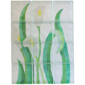 Pittsburgh Corning Expressions Calla Lillies Mural Glass Block (Common: 32-in H x 24-in W x 4-in D; Actual: 31.75-in H x 23.75-in W x 3.875-in D)