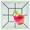 Pittsburgh Corning Expressions Apple Art Block Glass Block (Common: 8-in H x 8-in W x 4-in D; Actual: 7.75-in H x 7.75-in W x 3.875-in D)