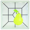 Pittsburgh Corning Expressions Pear Art Block Glass Block (Common: 8-in H x 8-in W x 4-in D; Actual: 7.75-in H x 7.75-in W x 3.875-in D)