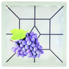 Pittsburgh Corning Expressions Grapes Art Block Glass Block (Common: 8-in H x 8-in W x 4-in D; Actual: 7.75-in H x 7.75-in W x 3.875-in D)