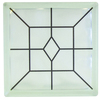 Pittsburgh Corning Expressions Art Block Grid Glass Block (Common: 8-in H x 8-in W x 4-in D; Actual: 7.75-in H x 7.75-in W x 3.875-in D)