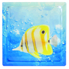 Pittsburgh Corning Expressions Tropical Fish In Water Art Block Glass Block (Common: 8-in H x 8-in W x 4-in D; Actual: 7.75-in H x 7.75-in W x 3.875-in D)