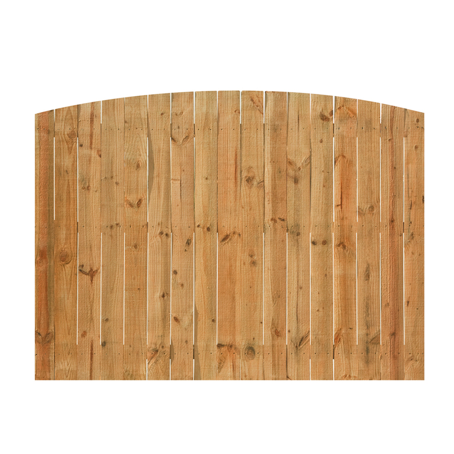 Shop Cedar Flat Top Wood Fence Privacy Panel Common 6 Ft X 8 Ft