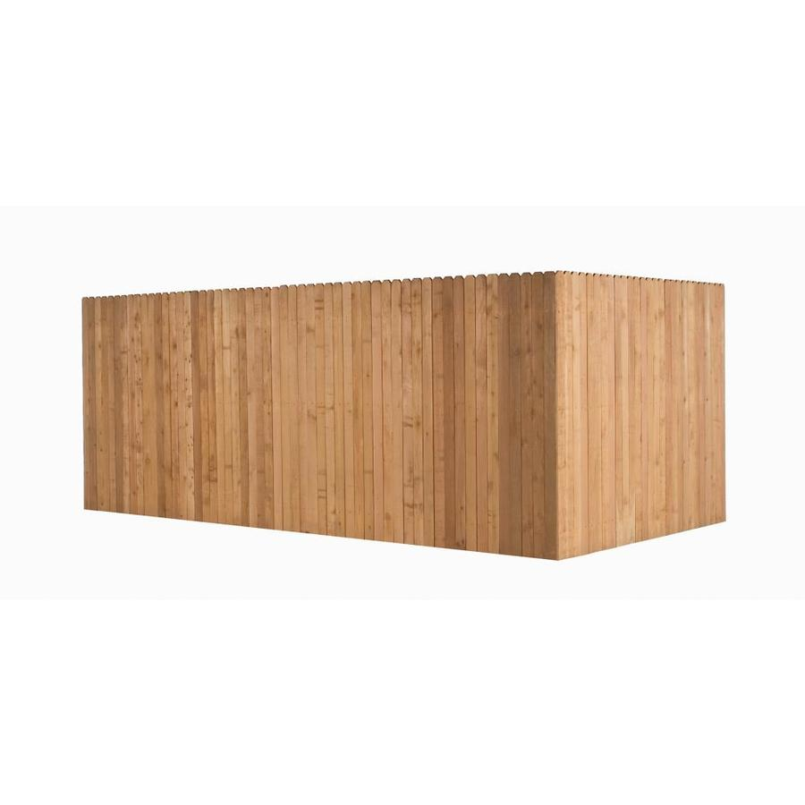 Shop Incense Cedar Dog Ear Wood Fence Picket Panel Common 8 Ft X 3 5