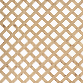 Severe Weather Pressure Treated Wood Spruce Privacy Lattice (Actual: 0.38-in)