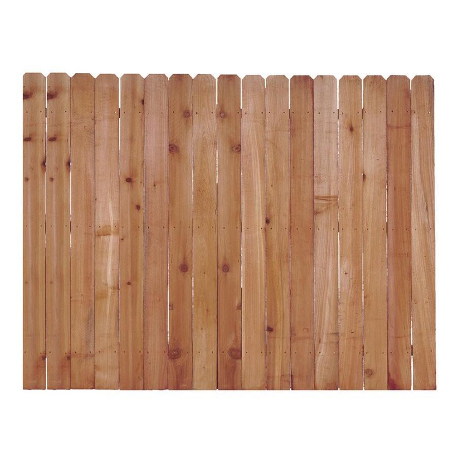 shop severe weather western red cedar dog ear wood fence. Black Bedroom Furniture Sets. Home Design Ideas
