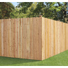 Severe Weather Wood Western Red Cedar Fence Panel (Common: 8-in x 6-ft; Actual: 8-ft x 6-ft)