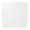 Severe Weather 1/4-in x 8-ft x 4-ft White Privacy Vinyl Lattice