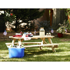 72-in Brown Southern Yellow Pine Rectangle Picnic Table