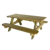 72-in L Natural Rectangle Picnic Table with Benches