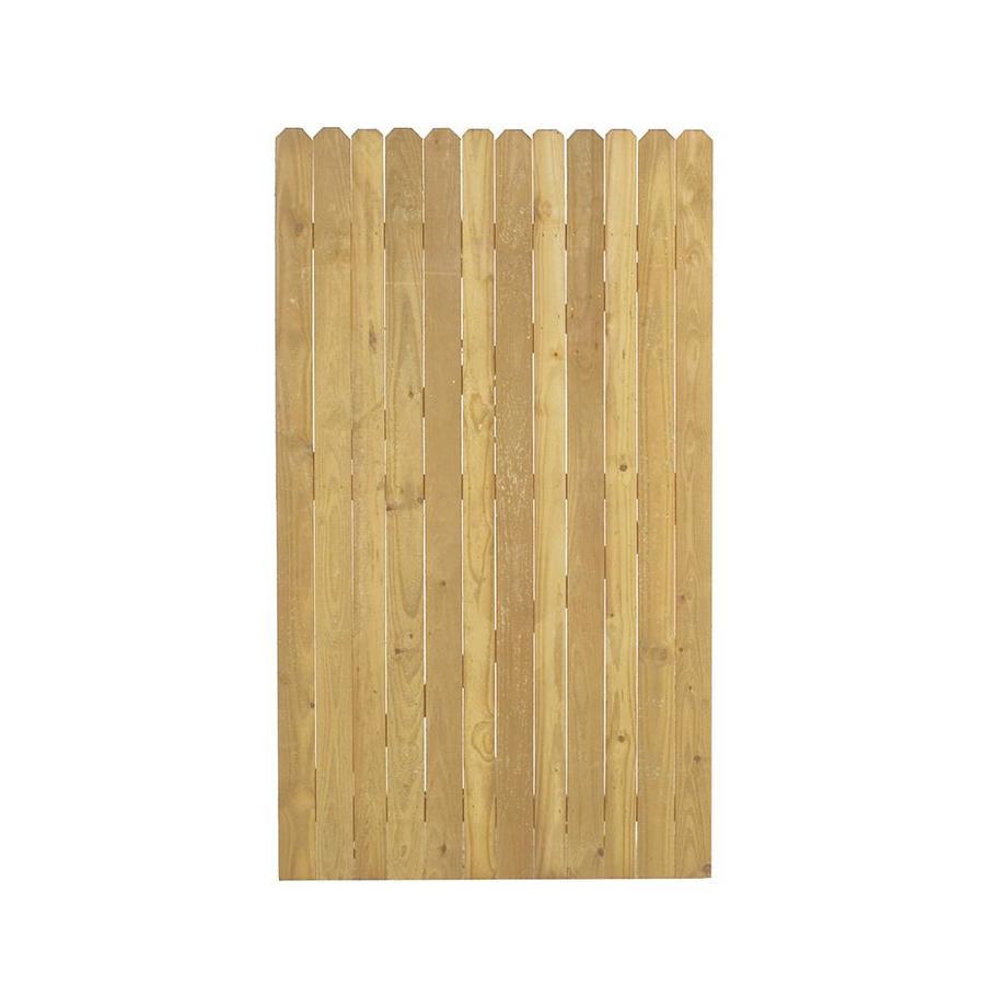 Shop western red cedar dog ear wood fence gate common