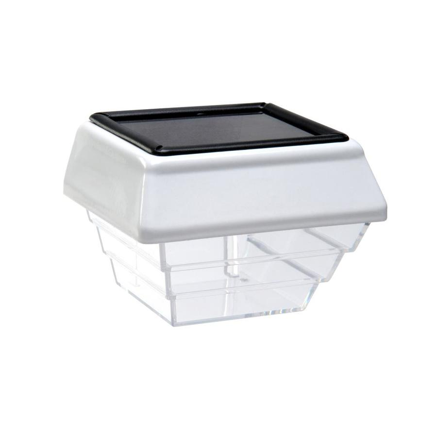shop 4x4 solar post and stair light white 2 pack at. Black Bedroom Furniture Sets. Home Design Ideas