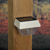 Maine Ornamental White LED Deck Post Cap