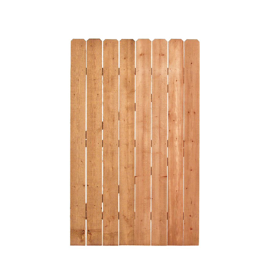 Shop pine dog ear pressure treated wood fence gate common
