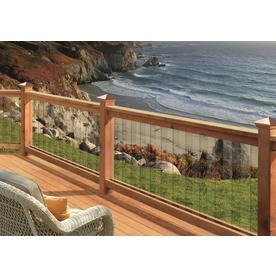Deckorators 32-in Clear Glass Scenic Baluster