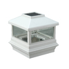 Maine Ornamental 5-in x 5-in Solar Post Light 5x5 White with Adaptors