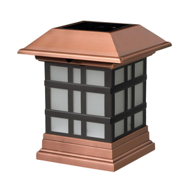 Maine Ornamental 4-in x 4-in Copper Aluminum and Wood Solar Post Cap