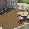 Style Selections Brown Groove Composite Deck Board (Actual: 1-in x 5.5-in x 20-ft)