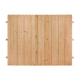 Shop natural cedar privacy fence panel common 8 ft x 6 ft actual 8 ft x 6 ft at - Most frequent fence materials ...
