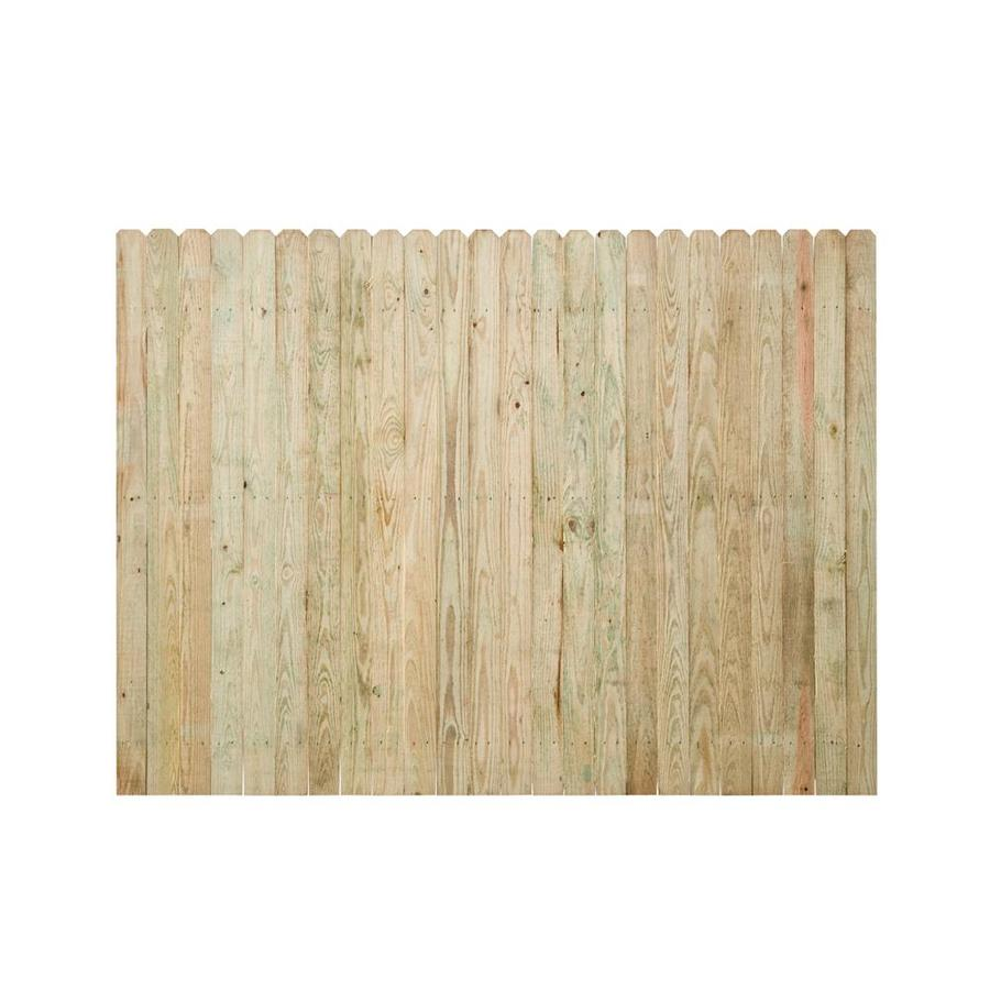 Shop Spruce Dog Ear Wood Fence Picket Panel Common 8 Ft
