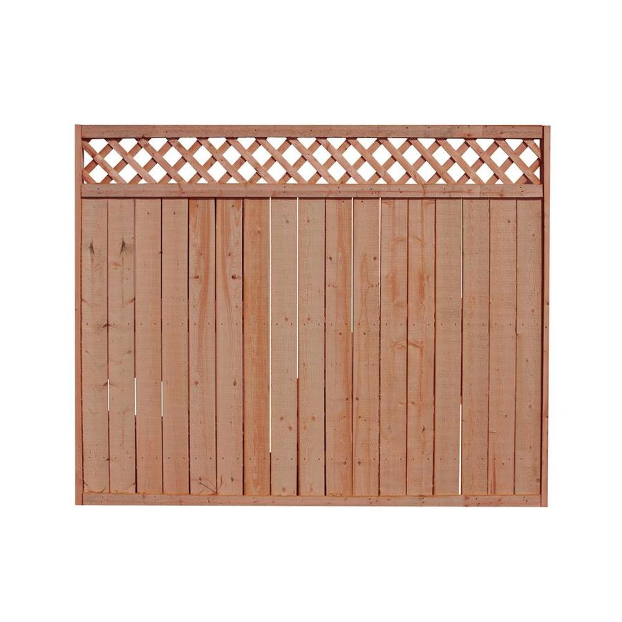 Wood Fence Panel Common 8 Ft X 5 Ft Actual 8 Ft X 5 7 Ft At Lowes