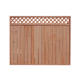 Shop 8-ft x 5-ft Spruce Lattice-Top Wood Fence Panel at Lowes.com