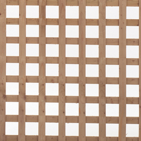 Severe Weather Natural Pressure Treated Spruce Square Lattice (Common: 3/4-in x 96-in x 4-ft; Actual: 0.685-in x 96-in x 4-ft)