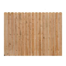 Shop severe weather natural incense cedar privacy fence panel common 8 ft x 6 ft actual 8 ft - Most frequent fence materials ...