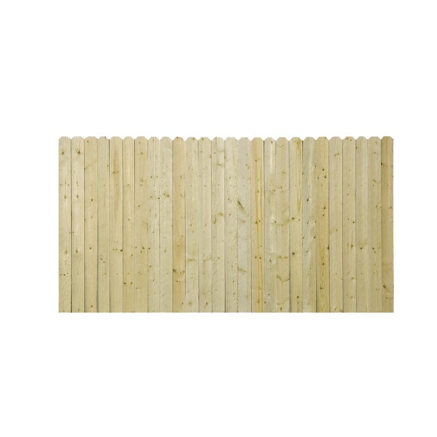 shop spruce dog ear pressure treated wood fence panel. Black Bedroom Furniture Sets. Home Design Ideas
