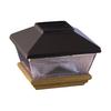 Maine Ornamental 6-in x 6-in Black Aluminum and Wood Solar Post Cap