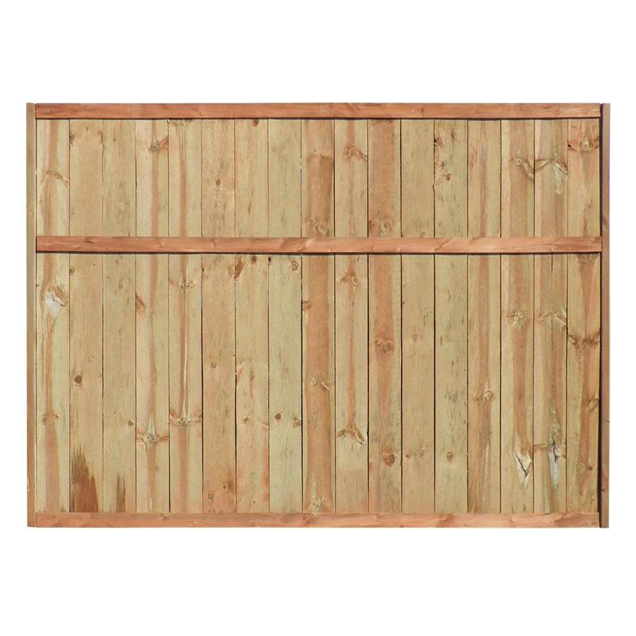 Shop pine flat top pressure treated wood fence privacy for Wood privacy screen panels