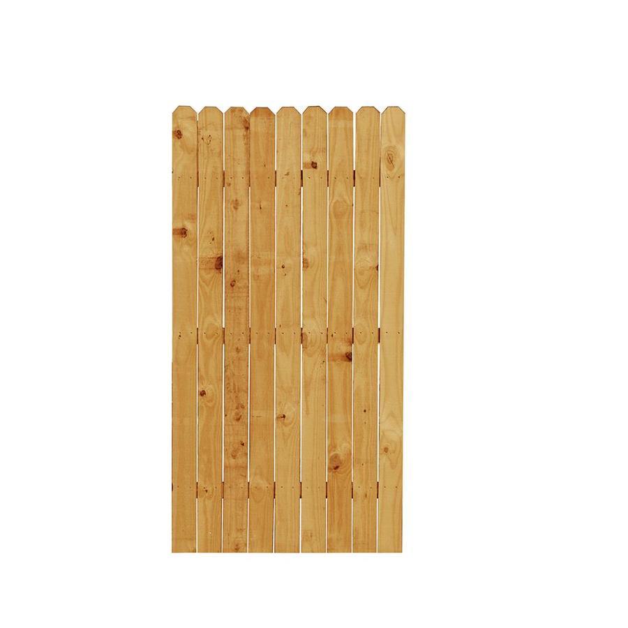 Wood Fence Gates : Shop Western Red Cedar Dog-Ear Wood Fence Gate (Common: 6-ft x 3-ft ...