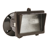 Utilitech 3.625-in 1-Head Halogen Bronze Switch-Controlled Flood Light